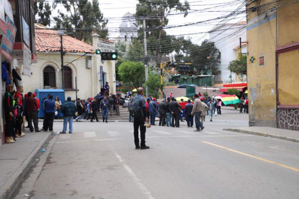 Las organizaciones afiliadas a Comcipo bloquearon las calles.