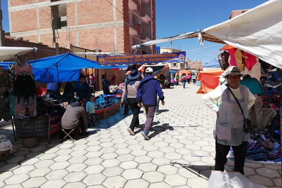 El asentamiento de los viajeros en las avenidas que rechazaron los feriafranquistas.