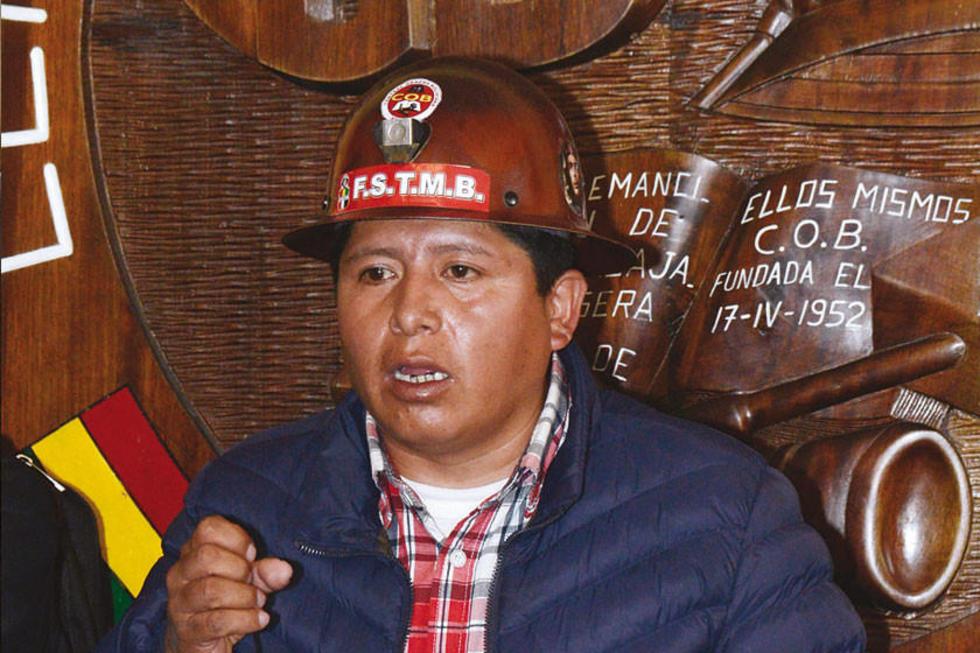 El ejecutivo de los trabajadores, Juan Carlos Huarachi.