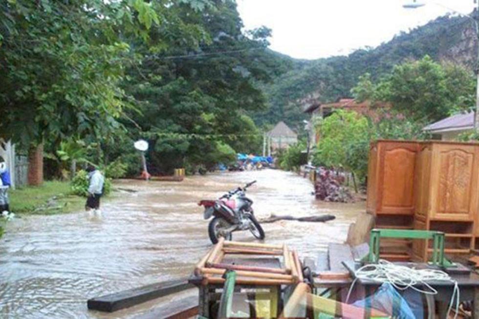 Las lluvias muchas veces generan el desborde de los ríos.