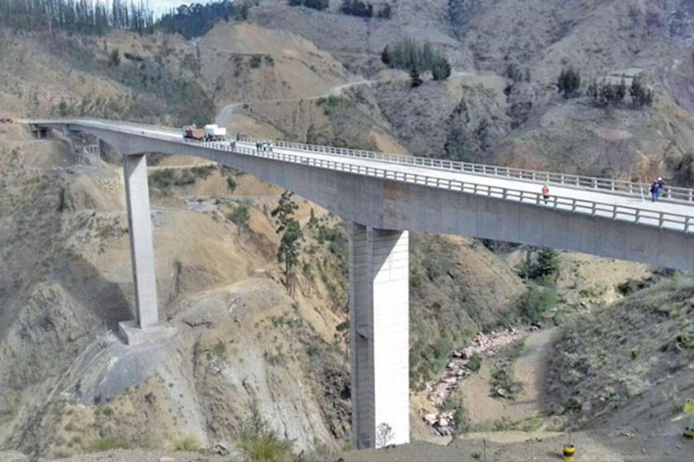 El puente más alto del país.