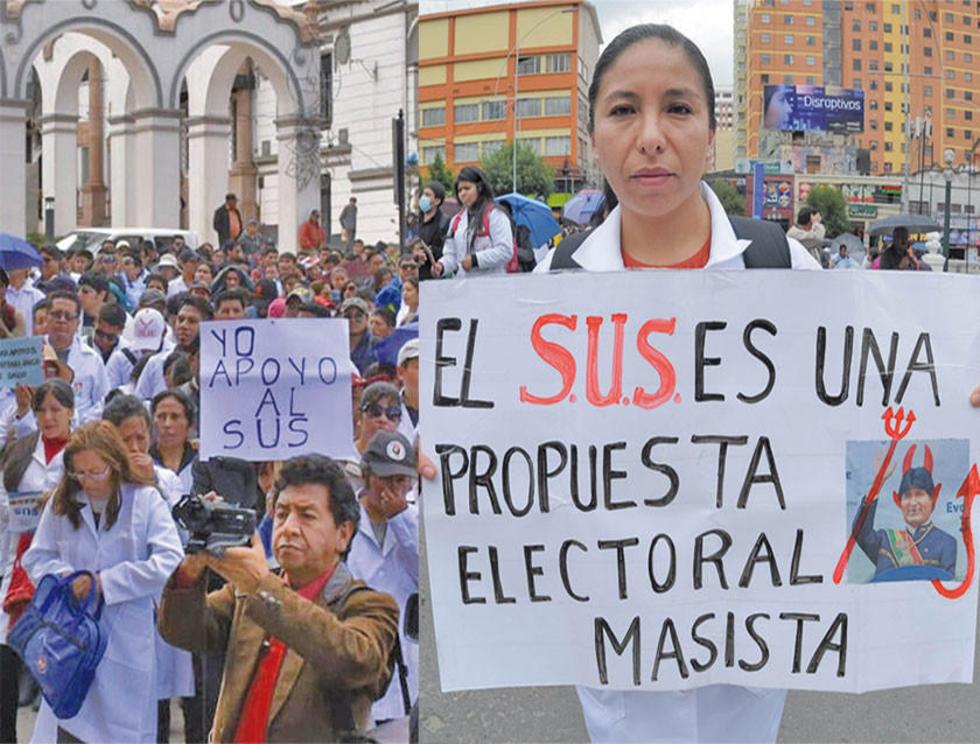 Se movilizan a favor y en contra del SUS en todo el país