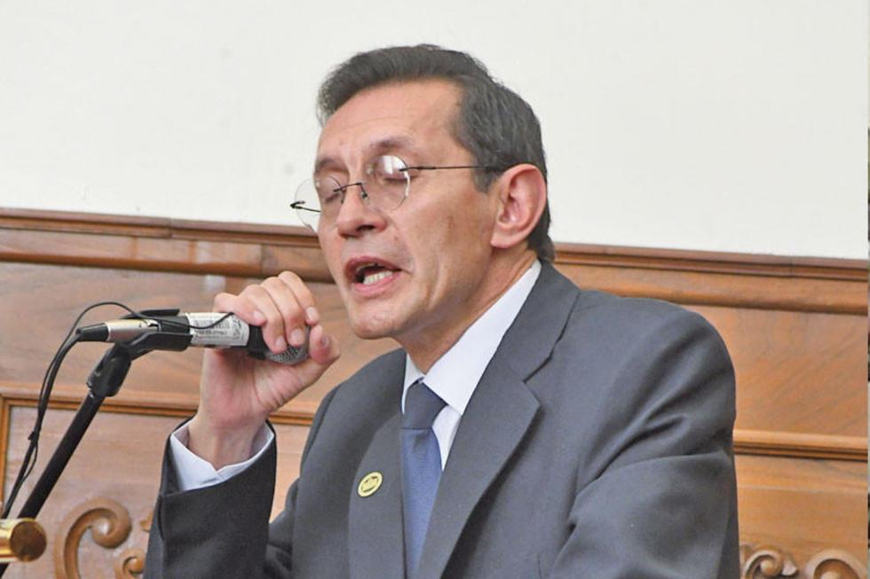 José Antonio Revilla en el acto de inauguración del año judicial.
