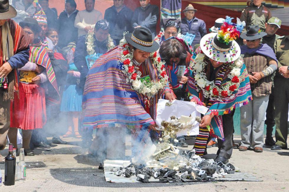 Se rendirá un ritual a la Pachamama.