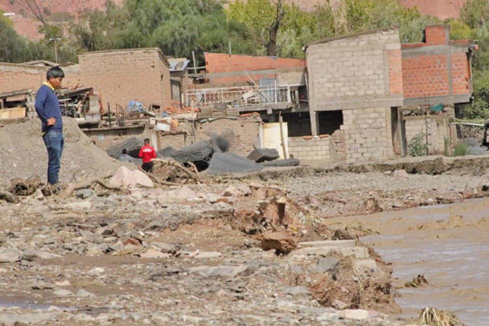 Fuertes lluvias y granizos causan daños en Tarija Chuquisaca y Potosí