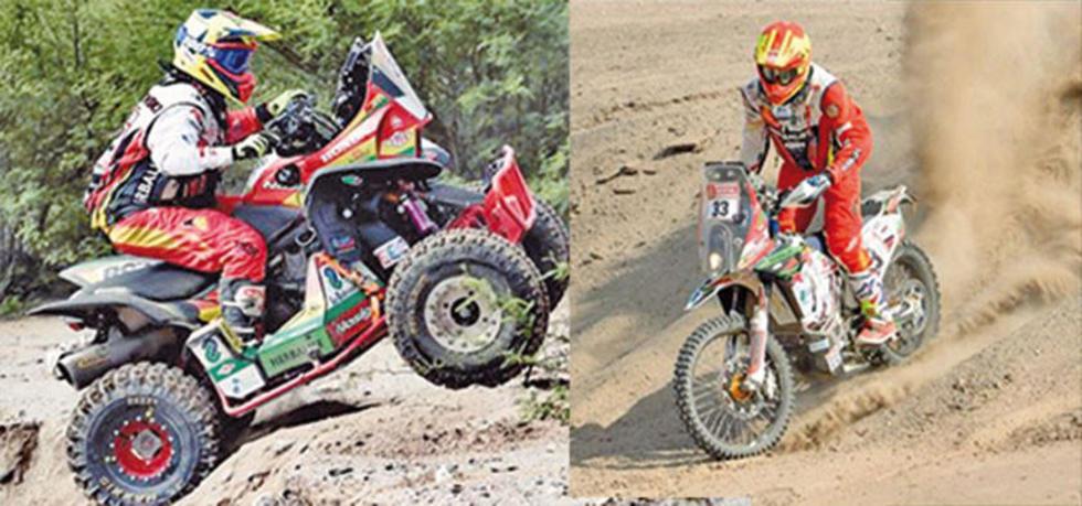 Wálter y Daniel Nosiglia en la primera etapa de la carrera.