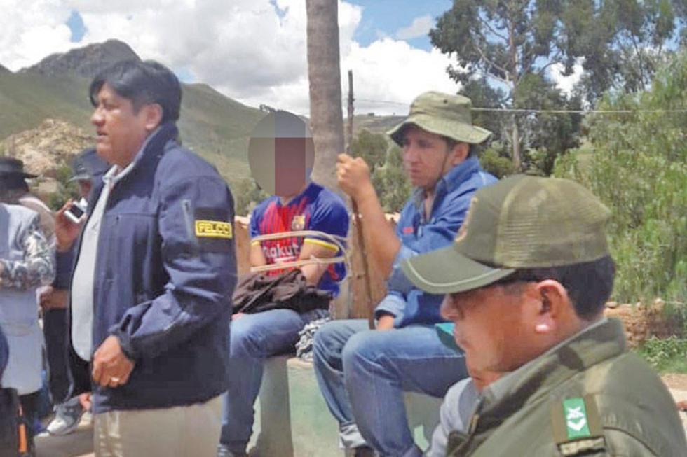 Policía rescata a joven a punto de ser linchado en Mojotorillo