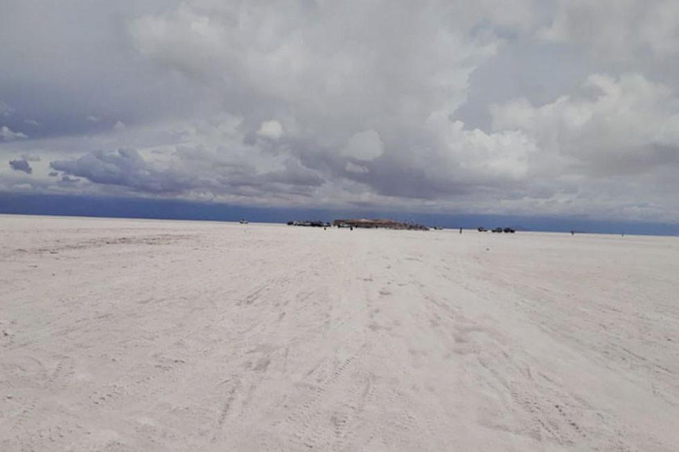 Vista general del mar de sal.