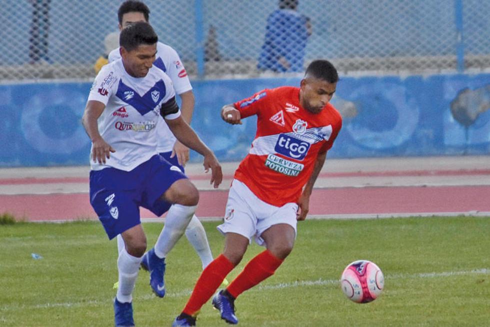 Nacional Potosí frena al último campeón del fútbol profesional