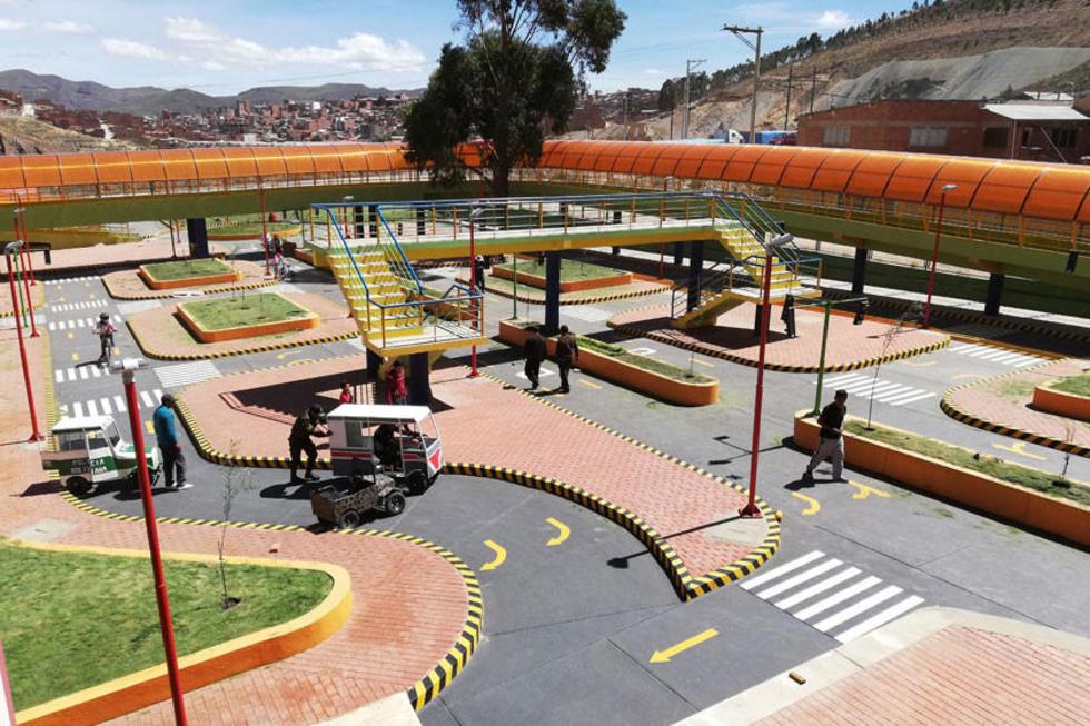 Está es la área urbana del parque vial.