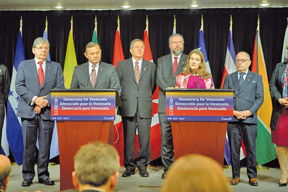 El Grupo de Lima tuvo una reunión ministerial en Ottawa, Canadá.