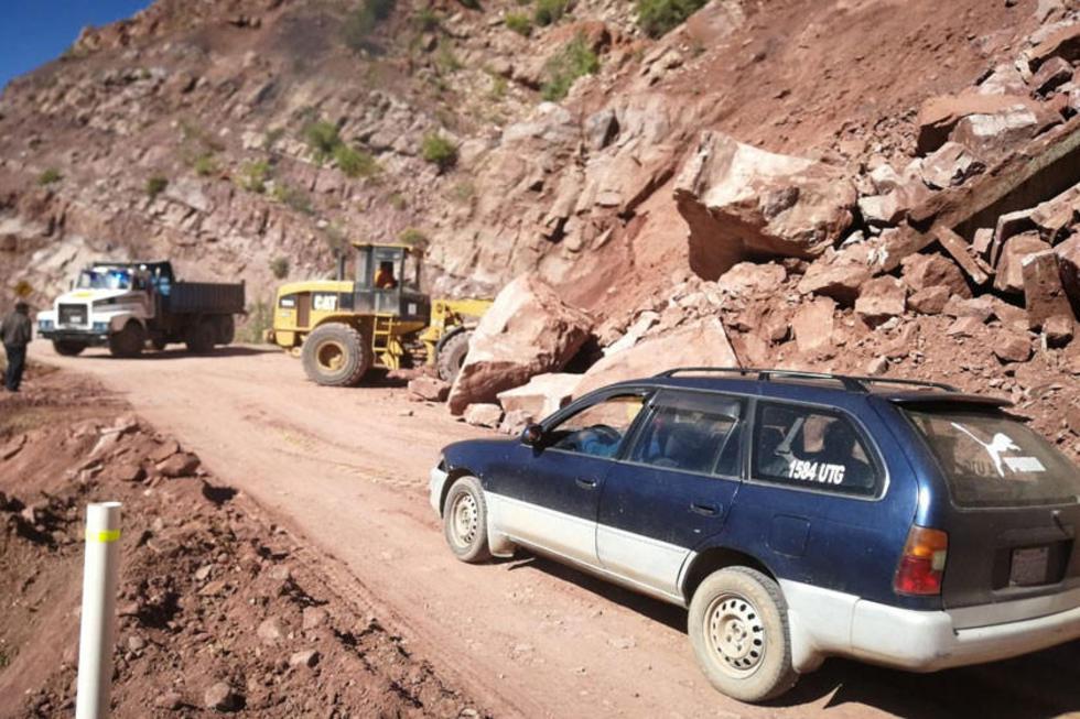 Intervienen en los tramos afectados por los desastres naturales