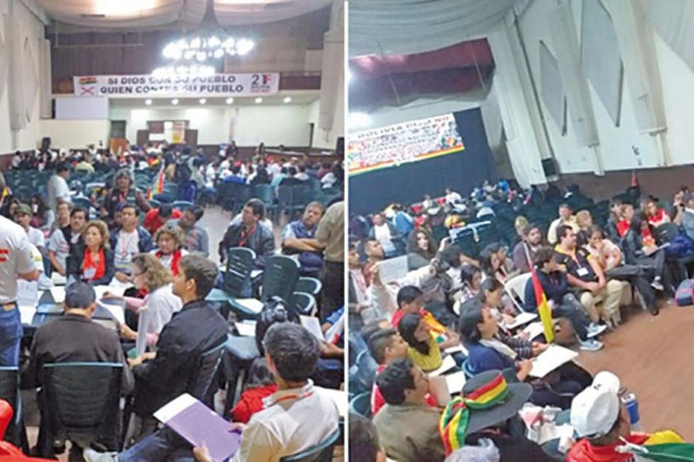 Determinaron convocar a la desobediencia civil si es que el MAS insiste en llevar a su binomio a las elecciones.