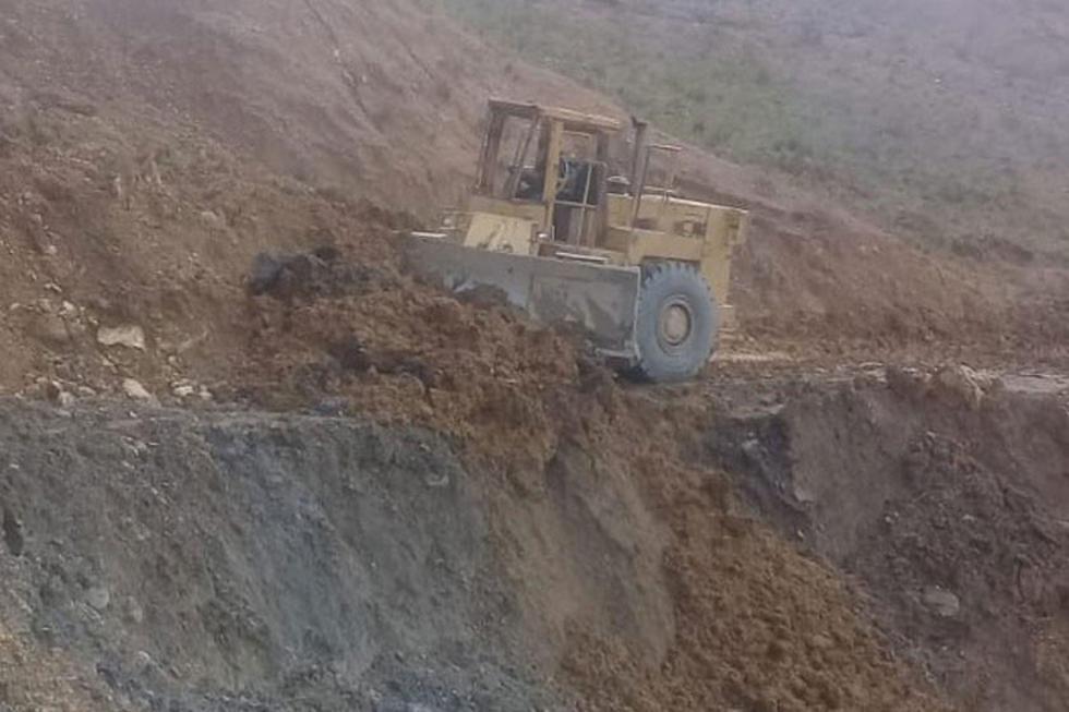 Habilitan los caminos afectados por derrumbes debido a las lluvias