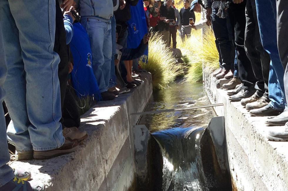 """Este es el """"río"""" construido por los chilenos."""