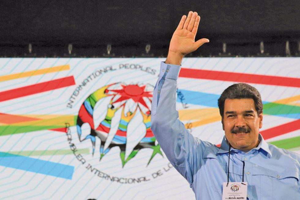 Nicolás Maduro participó del acto de cierre de la Asamblea Internacional de los Pueblos en Caracas.