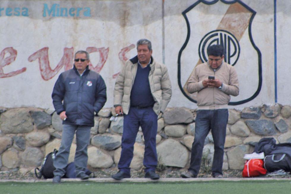 De izq. a der. Oscar Careaga, Wilfredo Condori y Antonio Decormis.