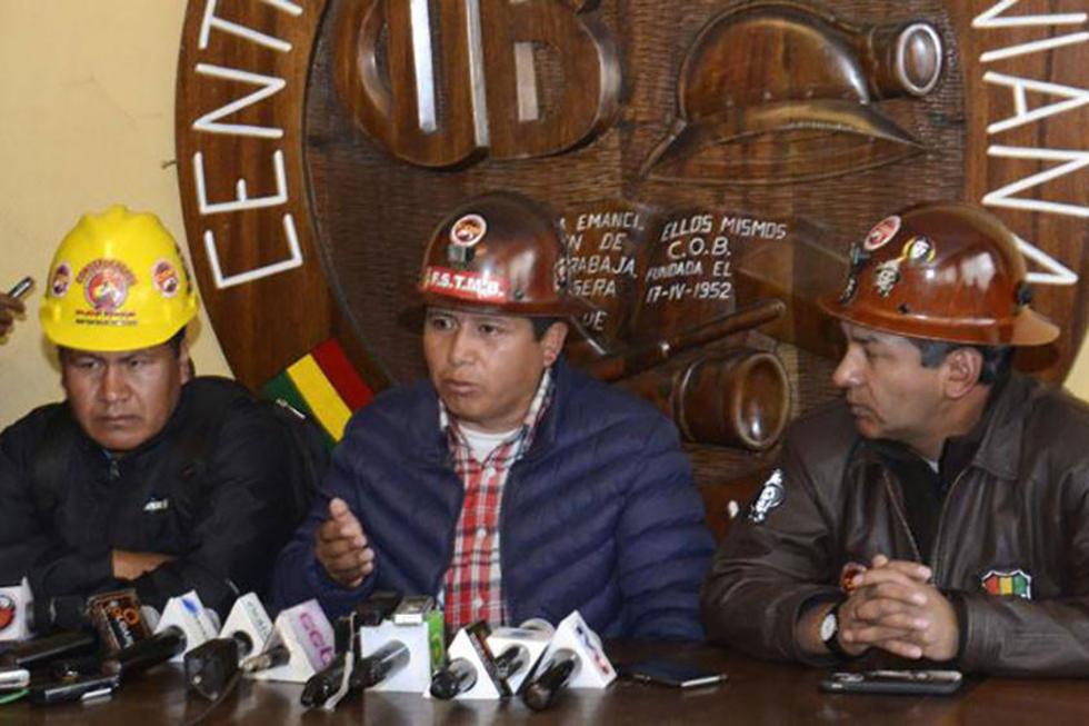 El secretario ejecutivo de la Central Obrera Boliviana (COB), Juan Carlos Huarachi.