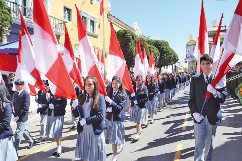 El desfile escolar sera el 29 del presente.