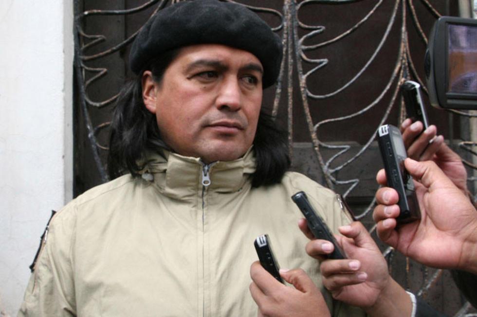 Sergio Leaño en declaraciones a la prensa.