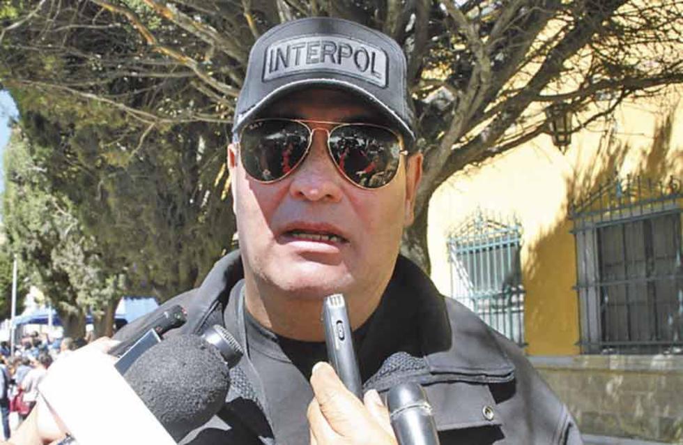 El jefe departamental de la Interpol, coronel Eduardo Vargas.