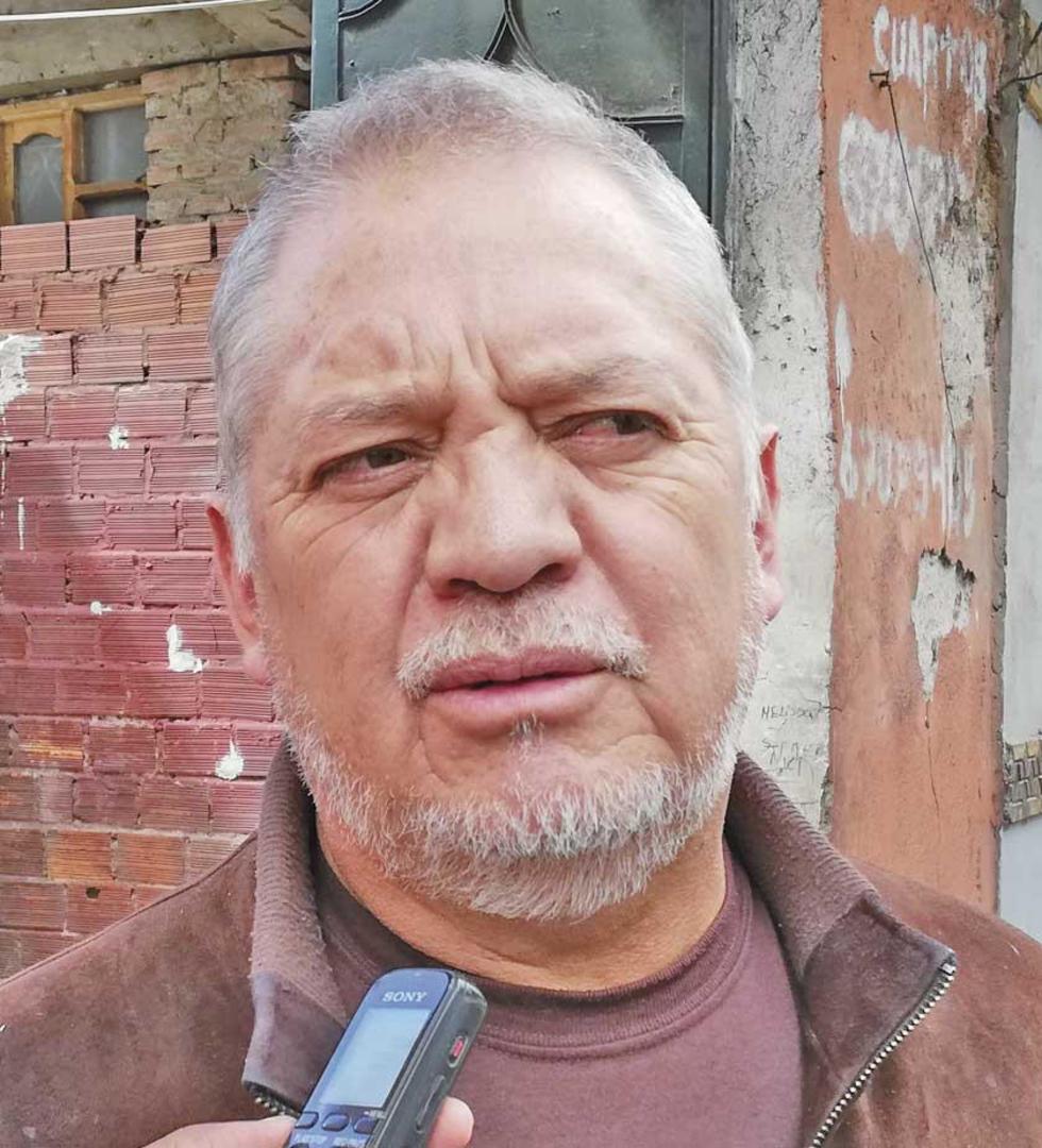 El dirigente sindical de los trabajadores de Aapos.