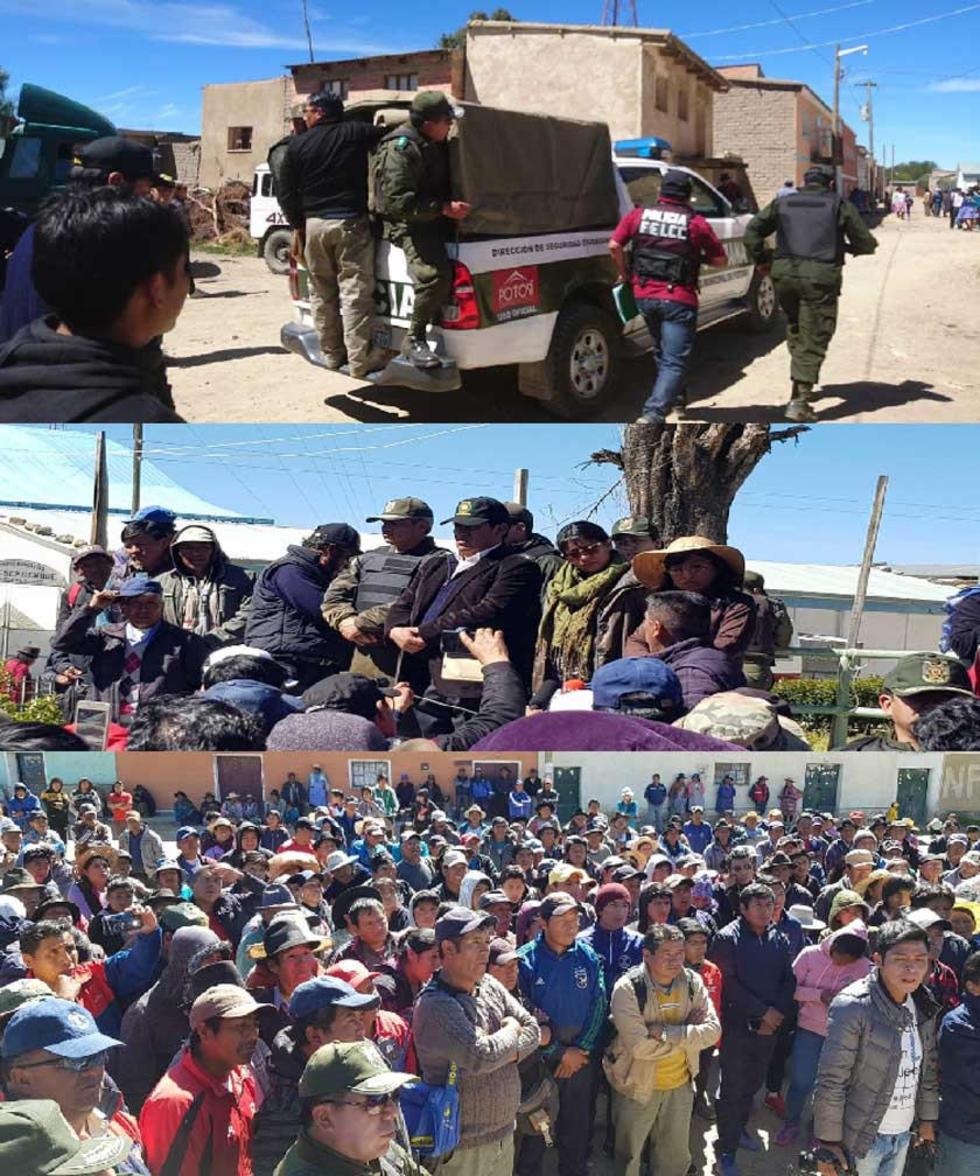 Incidencias de la negociación y traslado de las personas acusadas a Potosí.