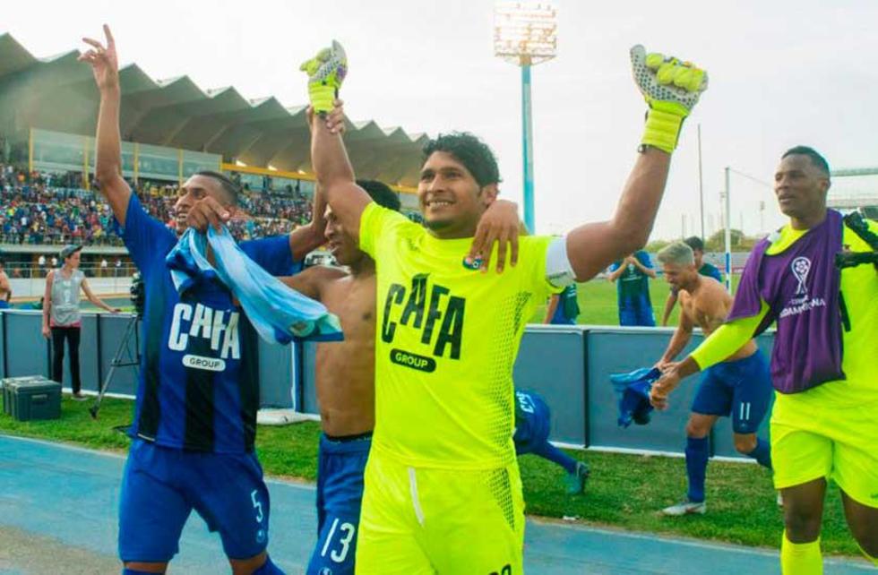 Los venezolanos celebran su clasificación.