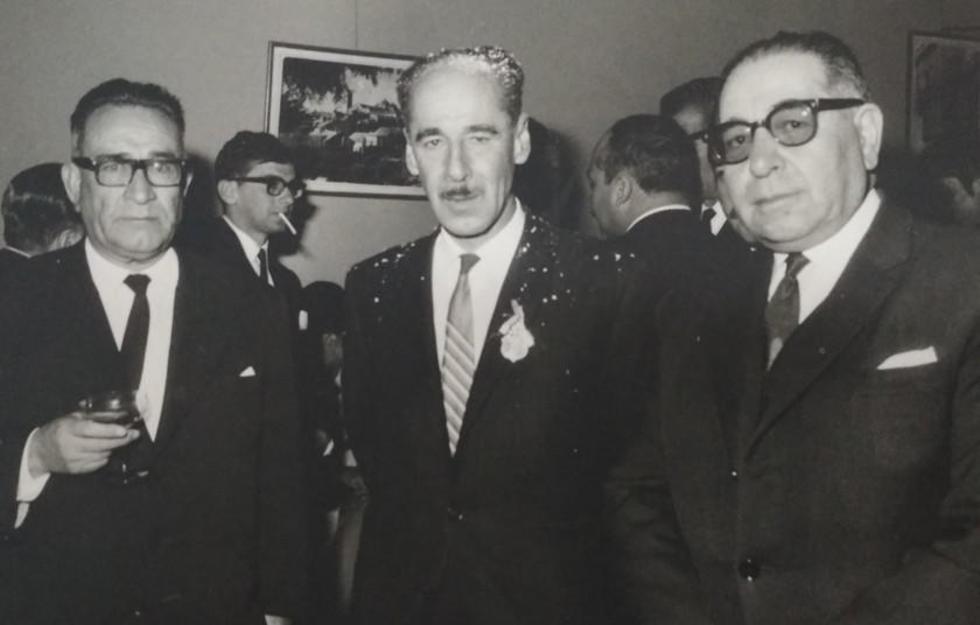 Con Abelardo Villalpando y el presidente Alfredo Ovando Candia.