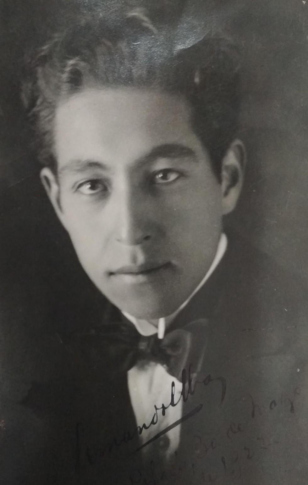 Armando Alba a sus 21 años, de los tiempos de Gesta Bárbara.