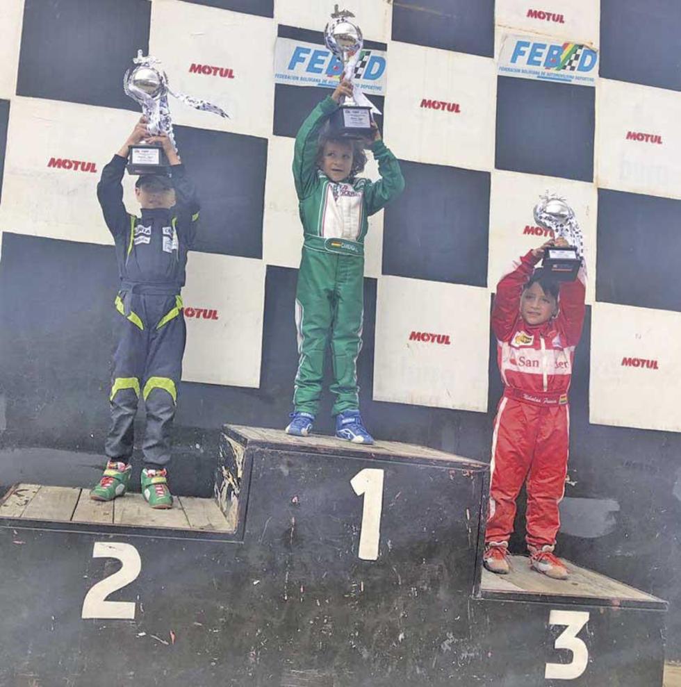 Lucas Careaga ganó en la categoría 6.5 Baby.