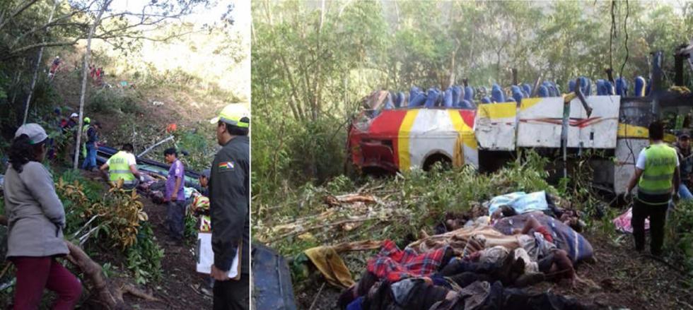 La noche del domingo 21 de abril, un bus de la empresa Turbus Totai, que iba de La Paz a Rurrenabaque, se embarrancó uno