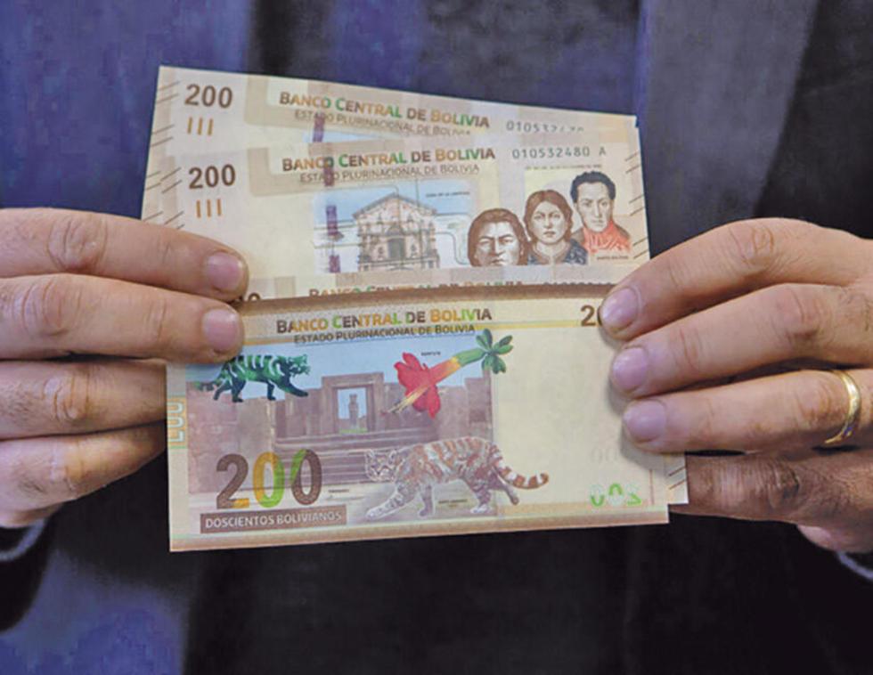 El nuevo billete de Bs 200 ya se halla en circulación