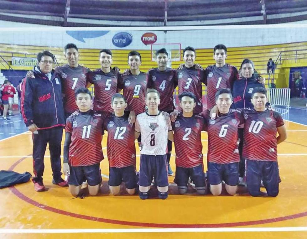 El equipo completo de Nimbles, de Cochabamba.