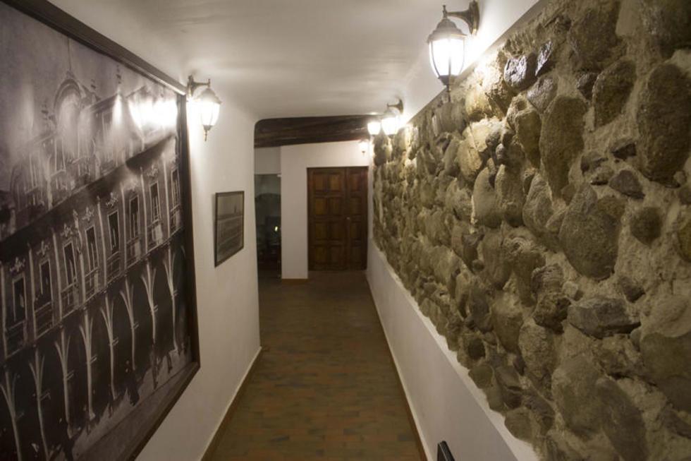 El edificio del cabildo estaba construído con piedra.