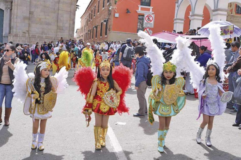La diablada estuvo presente en la Entrada Salesiana.