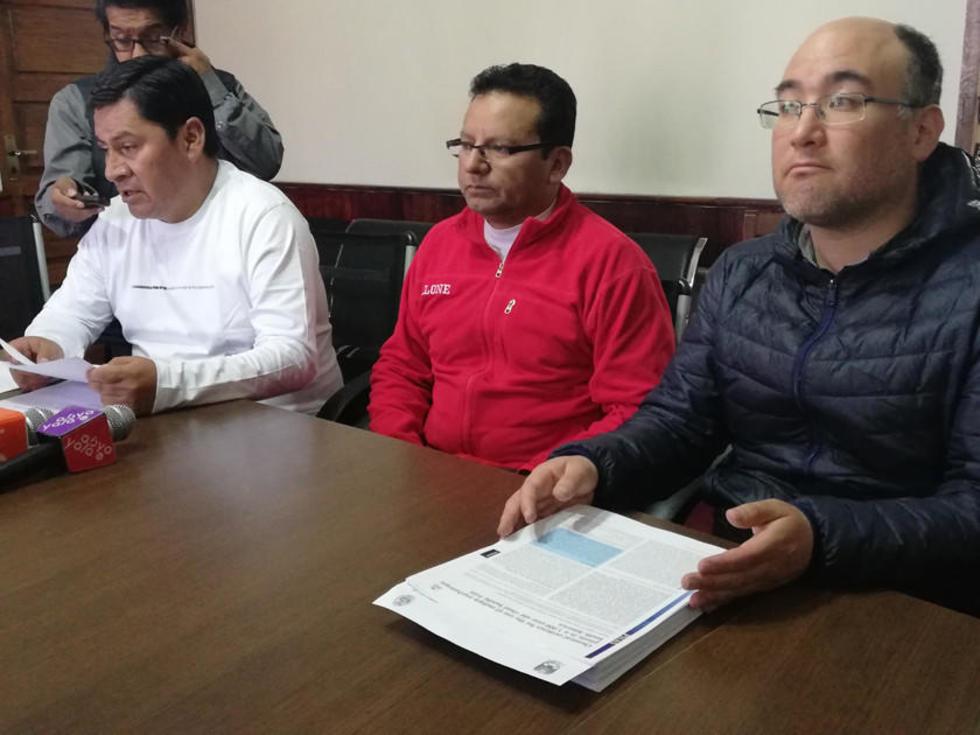 Juan Carlos Cejas, Daniel Apaza y José M. Capriles.