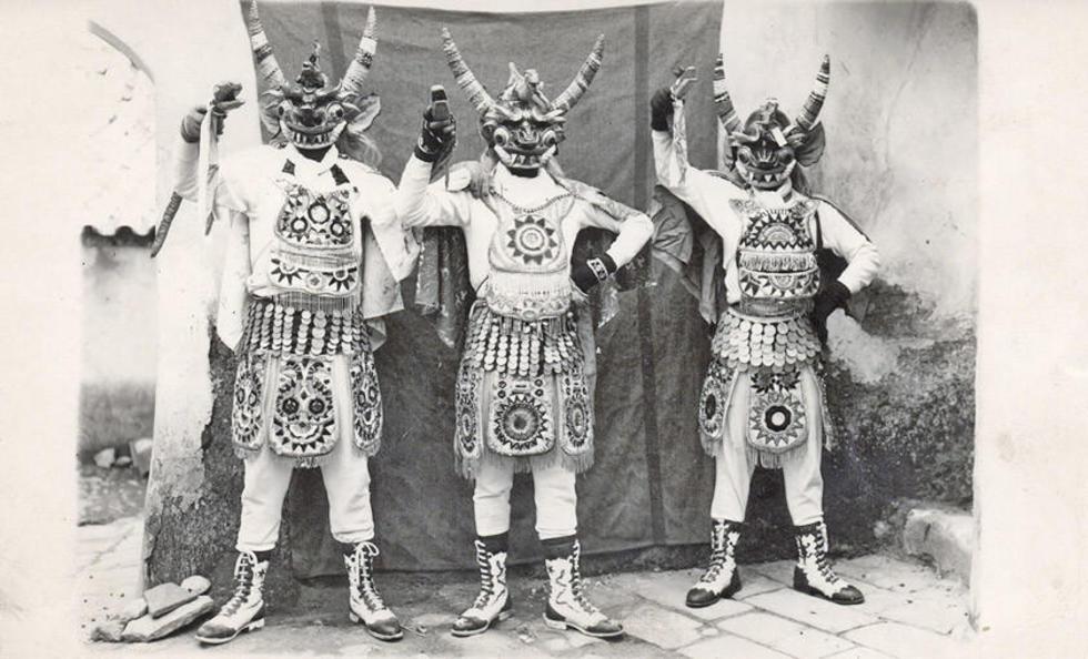 Mario Mamani, Balcazar Rojas y Basilio Nina.