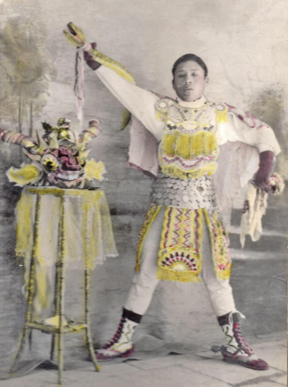 Basilio Nina Lima entre 1944 y 1945.