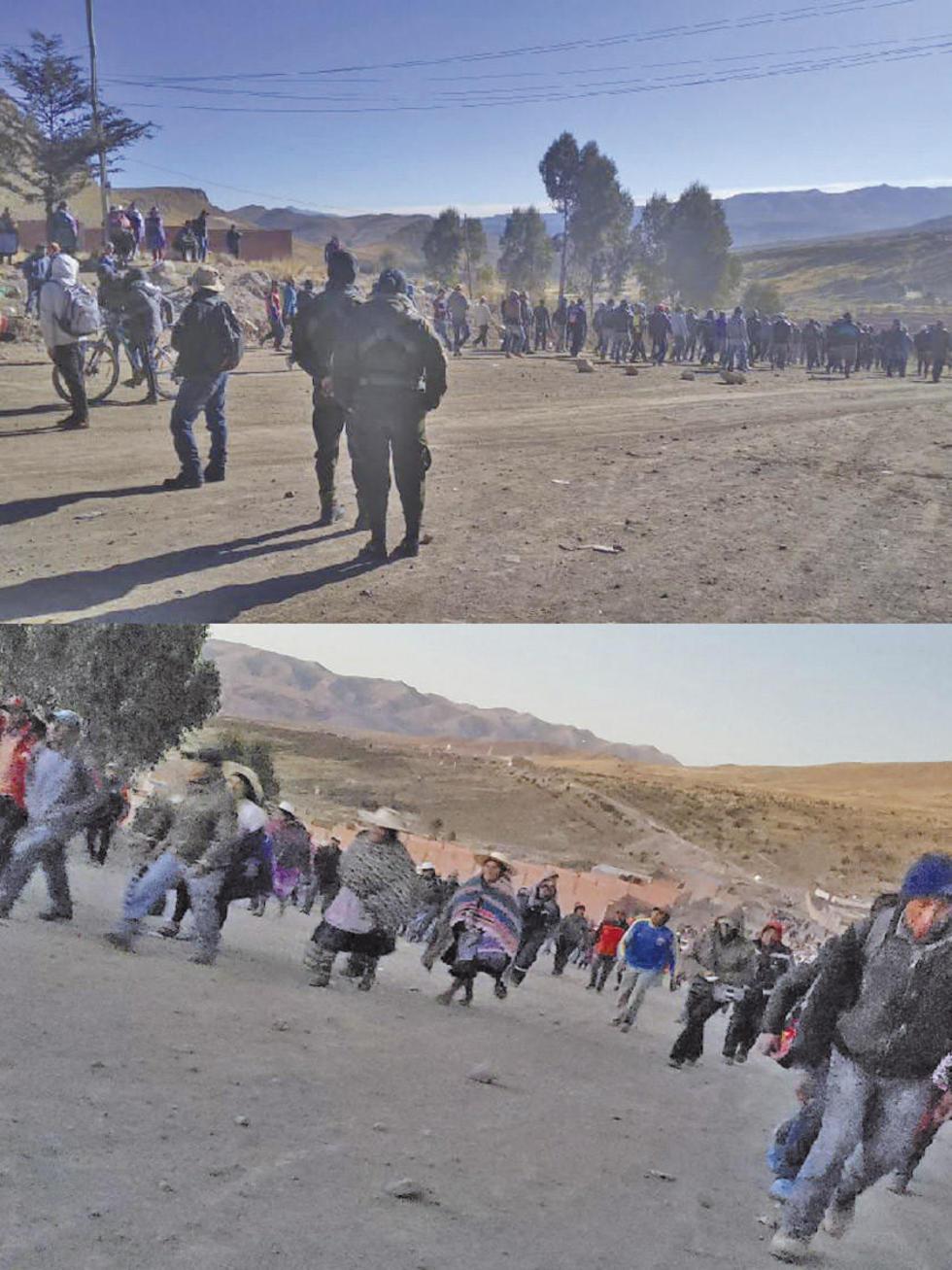 Más de 200 personas están en el lugar de conflicto.