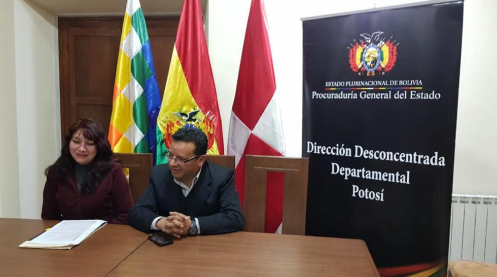 La conferencia de prensa en la que se informó sobre la detención del empresario.