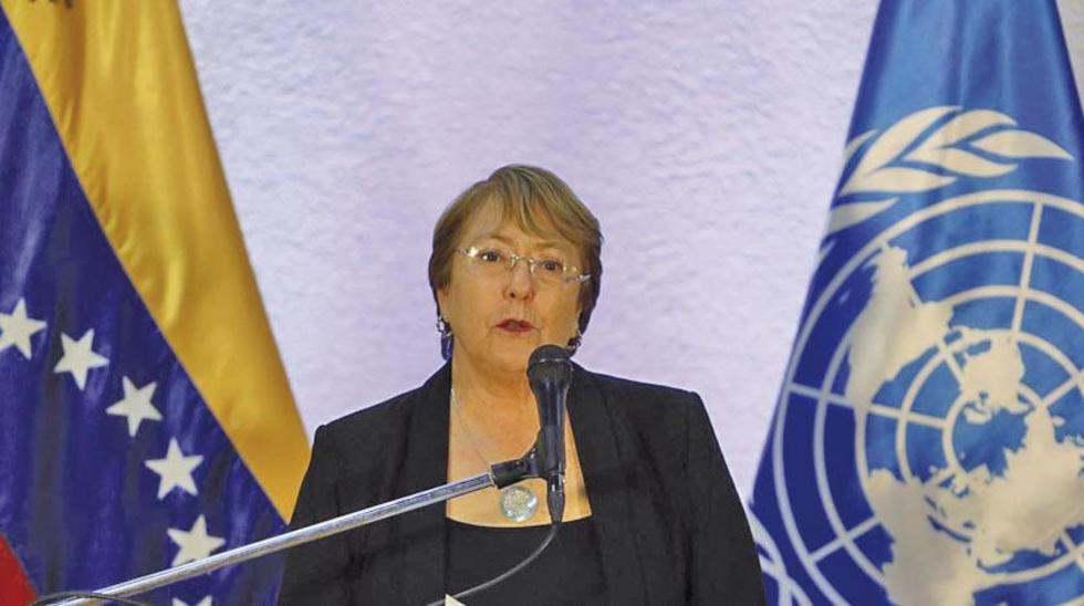 La alta comisionada de Naciones Unidas para los derechos humanos, Michelle Bachelet, presentará hoy el informe.