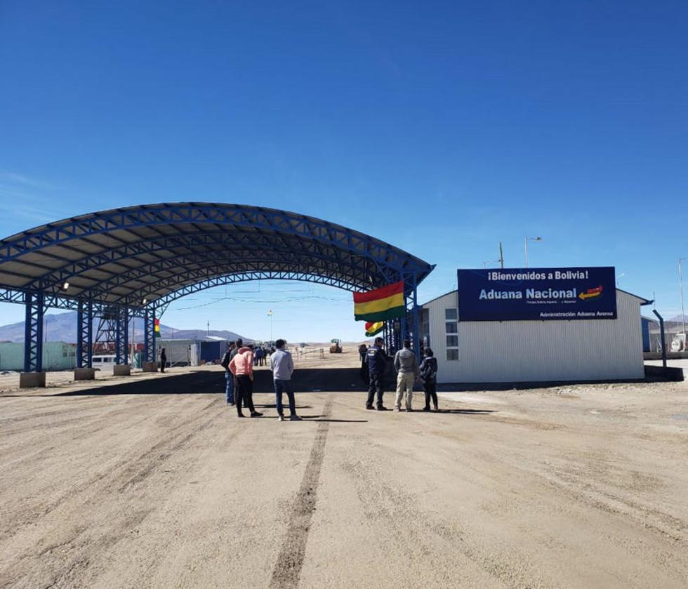 El puesto de control fronterizo en la región potosina de Avaroa.