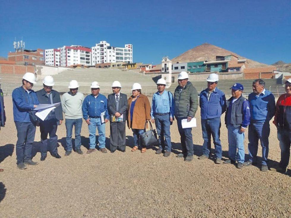 """El presidente de la FBF inspecciona los avances en el estadio """"Potosí"""""""