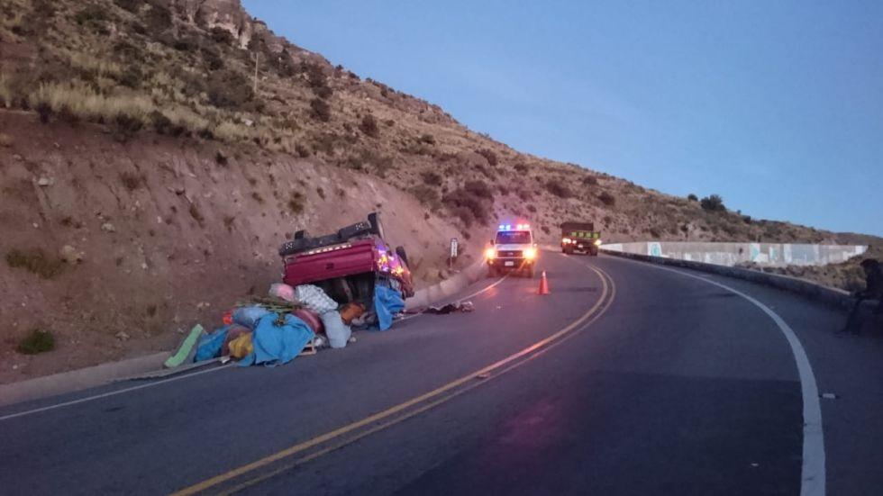 Cansancio de chofer provocó aparatoso accidente