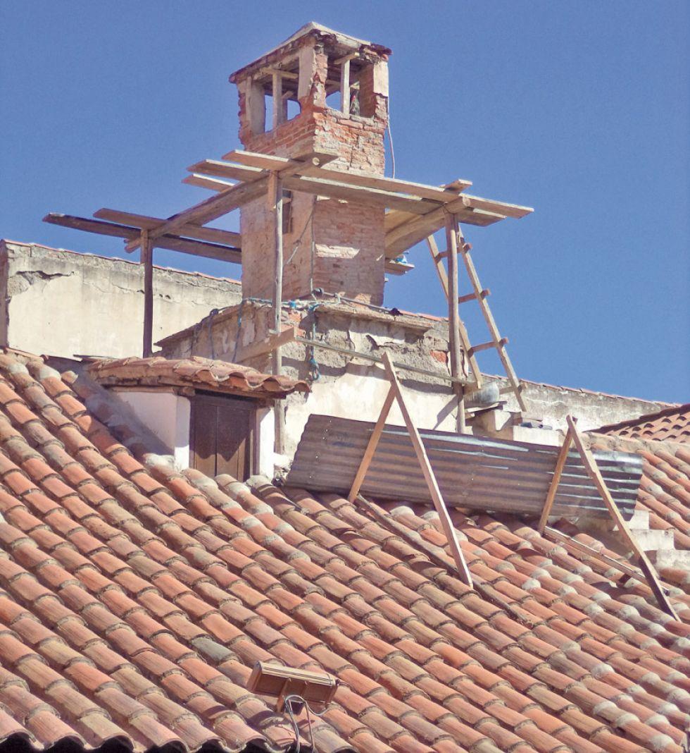La Casa de  Moneda inicia  restauración  de chimeneas