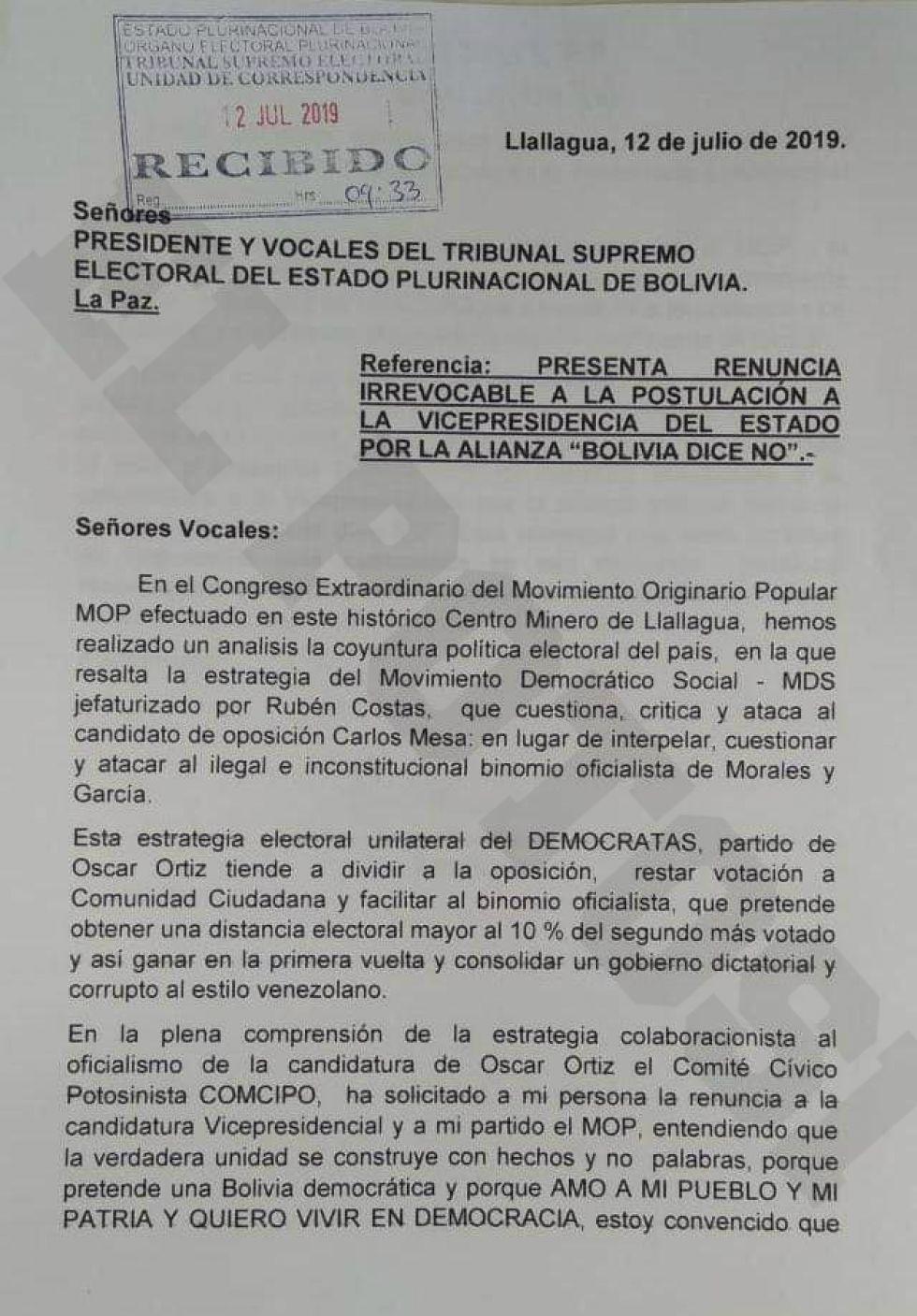 Edwin Rodríguez denuncia colaboracionismo de Óscar Ortiz