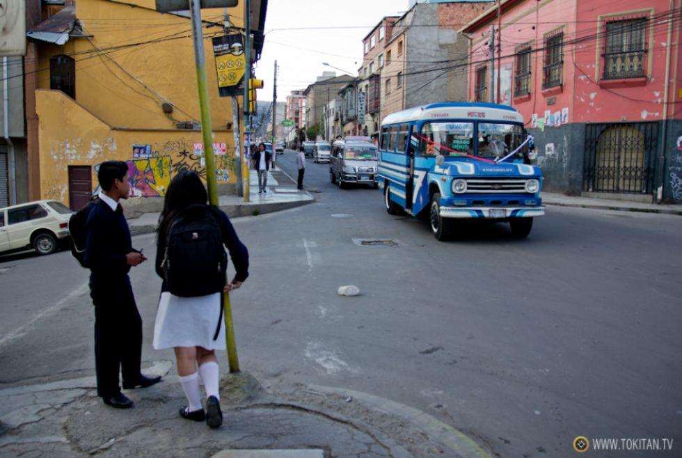 Los chóferes reciben la efeméride de La Paz con un paro movilizado
