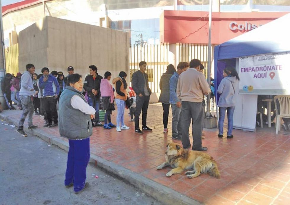 El padrón electoral de Potosí se acerca al medio millón de votos