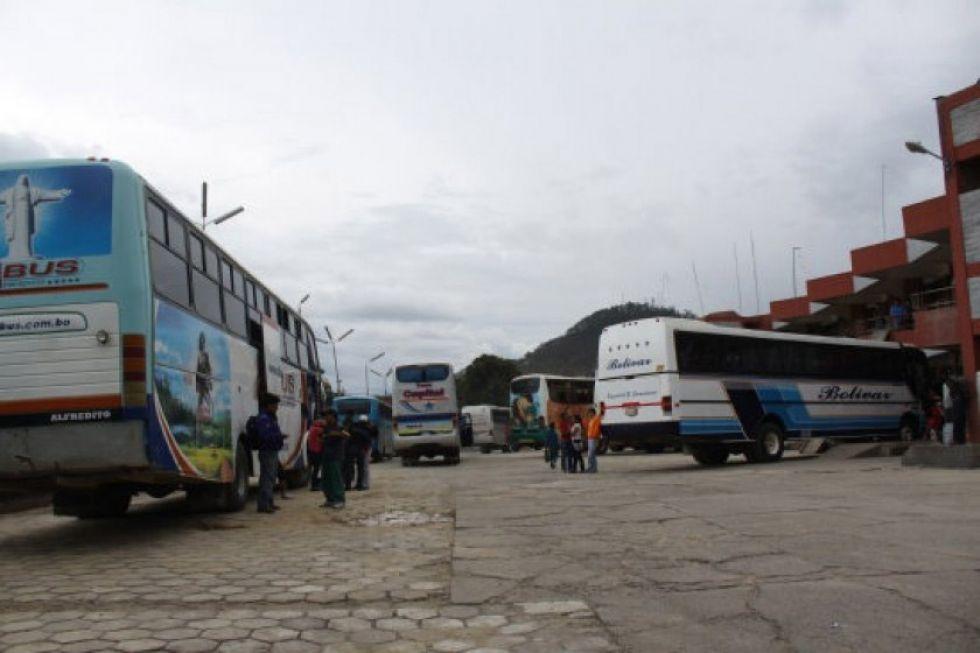 El transporte de Sucre suspende el servicio a la ciudad de Potosí
